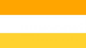 Orange-white-and-golden-rod-yellow